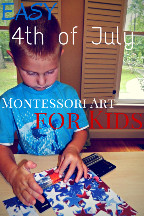 Easy 4th of July Montessori Art for Kids