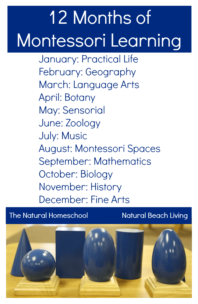 12 Months of Montessori Learning. Find all the Montessori inspired posts from 10 Montessori bloggers on ChildLedLife.com