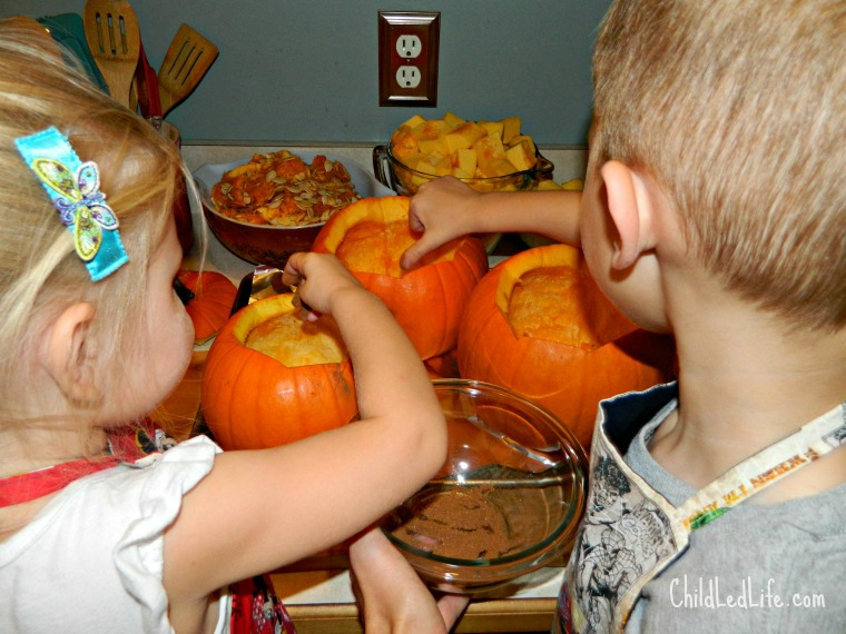 Fall Pumpkin Soup with Children