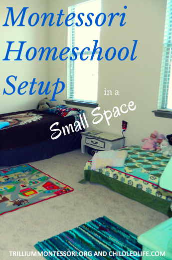 Montessori Homeschool Setup in a Small Space