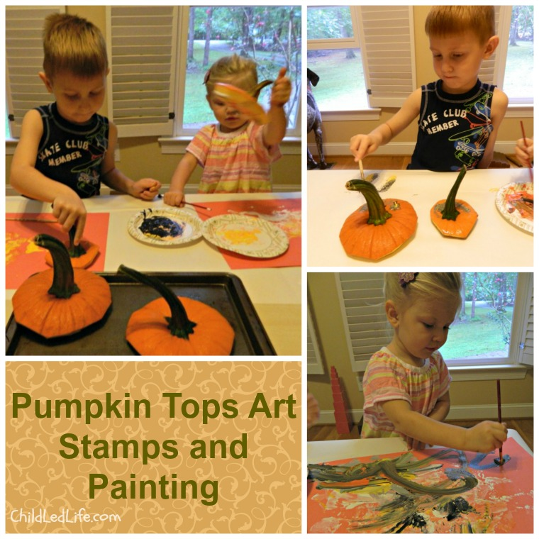 Fall Pumpkin Soup with Children Art Stamps