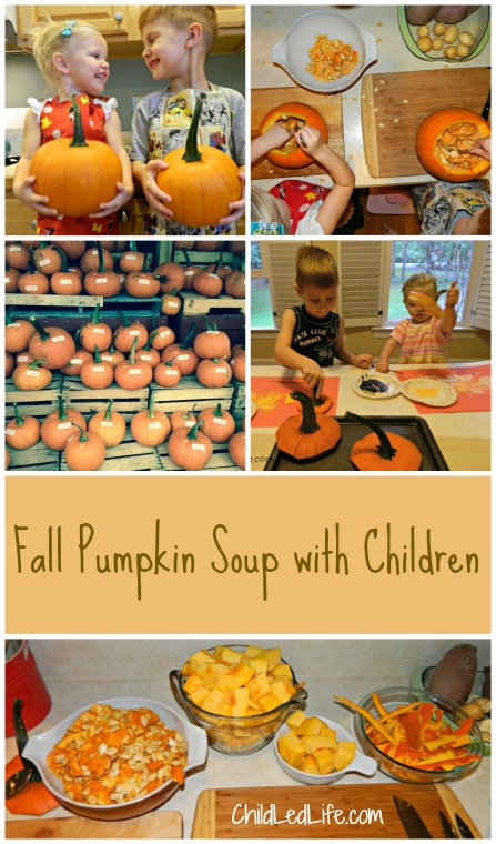 Have fun with your children in the kitchen making Fall Pumpkin Soup at Child Led Life