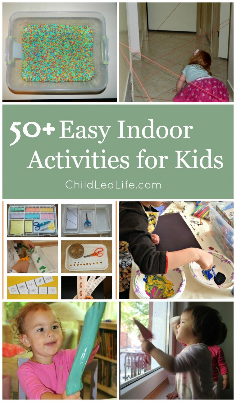 Are you ready for colder weather? Be prepared with over 50 indoor activities for kids on ChildLedLife.com