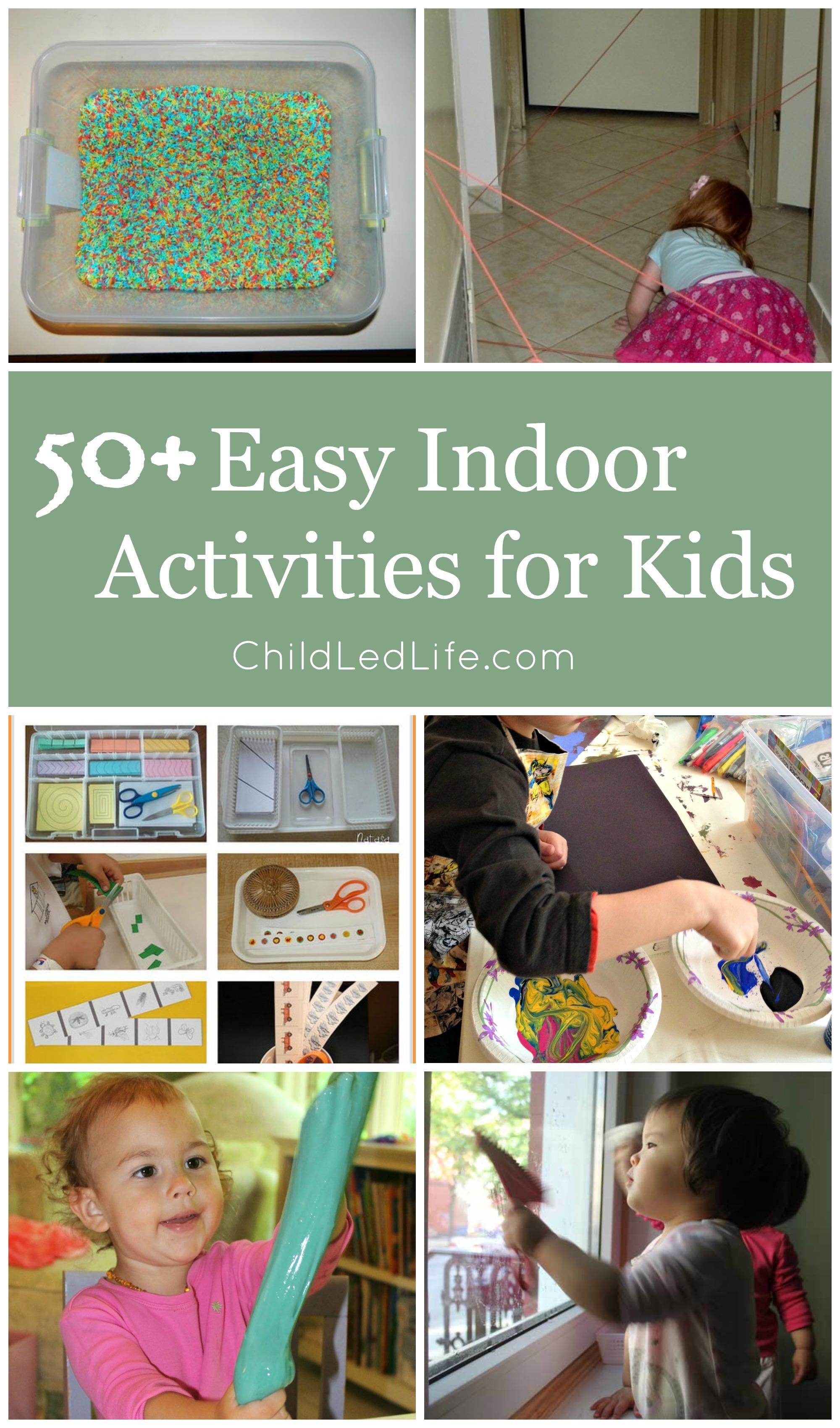 50 Easy Indoor Activities For Kids