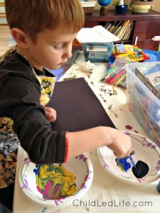 Painting is a great indoor activities for kids. Find more great ideas at ChildLedLife.com