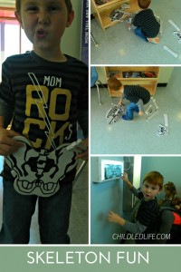 Skeleton Fun collage 1