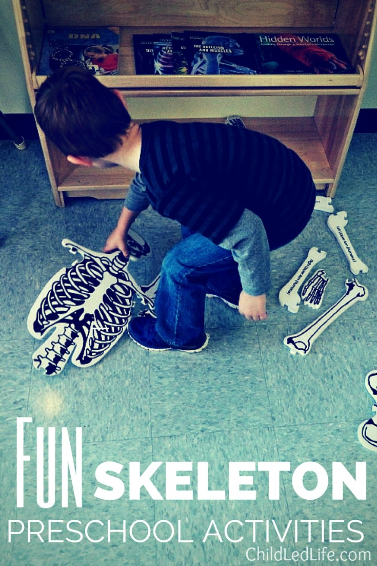 Skeleton activities on ChildLedLife.com