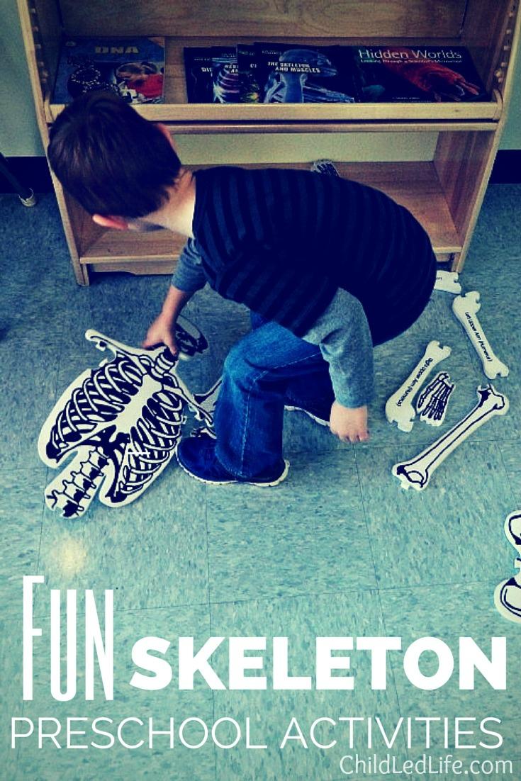 Skeleton activities on ChildLedLife.com