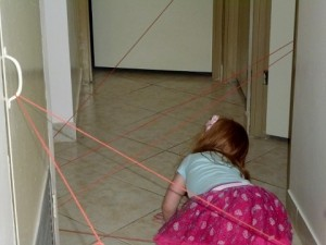 Yarn maze idea from My Kids Adventures ideas from indoor activities for kid on ChildLedLife.com