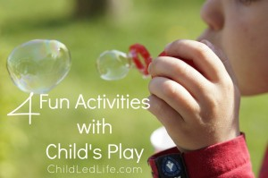 Child's Play fun Montessori activities for baby and toddler book review on ChildLedLife.com