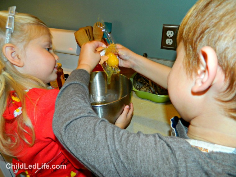 What a cool pictures! Adding an egg to the #gingerbread recipe on ChildLedLife.com