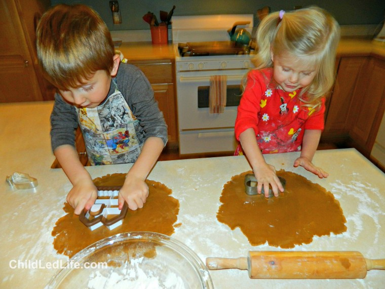 Cookie cutters are a great way to help kids make fun #gingerbreadhouses  on ChildLedLife.com