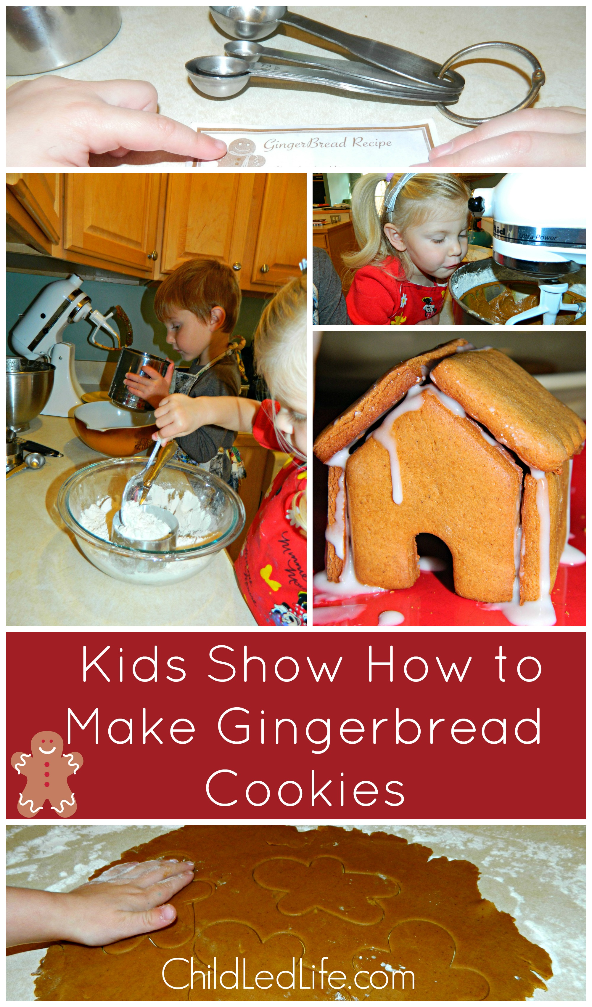 Kids Show How to Make Gingerbread Cookies