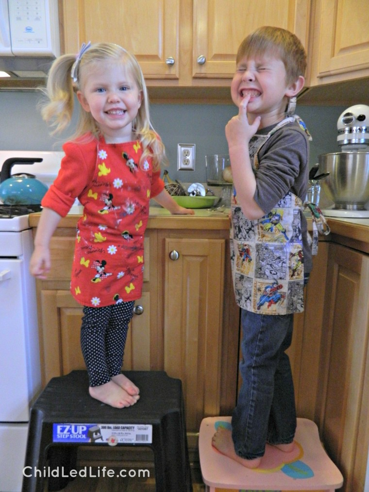 Our kids love learning in the kitchen. This time we are making gingerbread cookies as a classic #Christmascookie on ChildLedLife.com