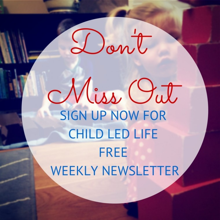 Child Led Life Newsletter on ChildLedLife.com