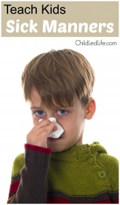 Teaching Sick Manners to kids is tough while they are sick, but it gives the best opportunity to help them practice their manners. Find out more great ideas on ChildLedLife.com