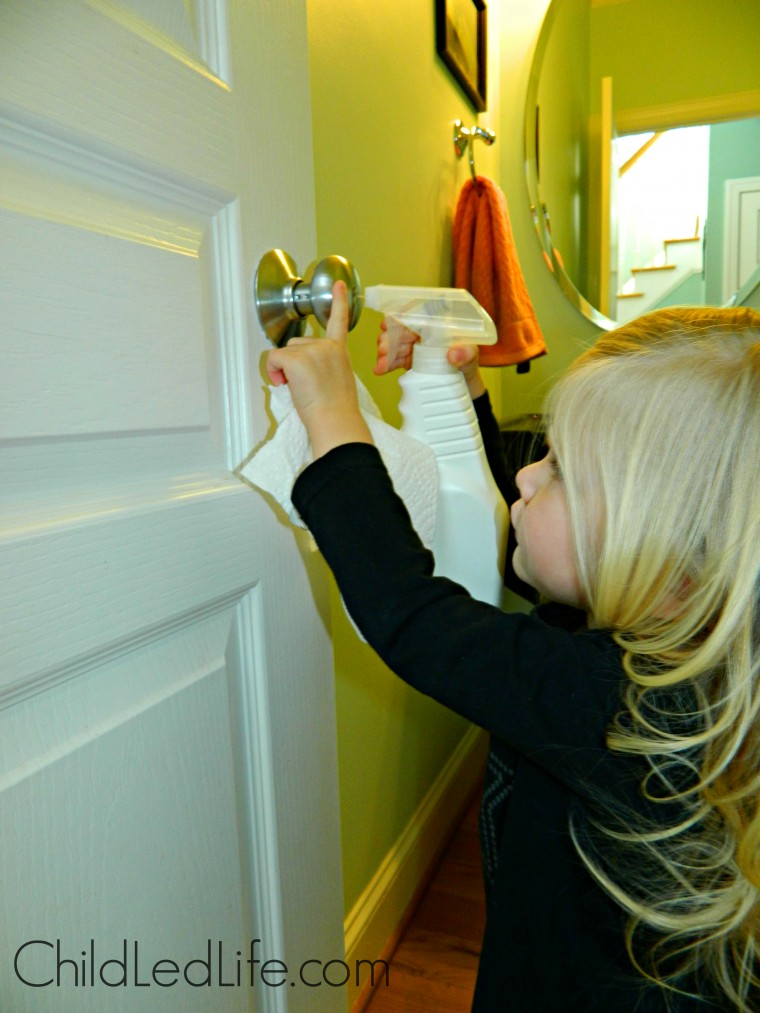 Cleaning your home is an important part of being sick. No reason to keep those germs around! Find out more help for sick kids on ChildLedLife.com