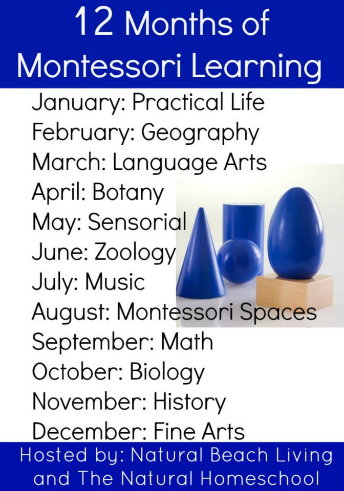 Pin this! 12 Months of Montessori Learning from several wonderful Montessori bloggers on ChildLedLife.com