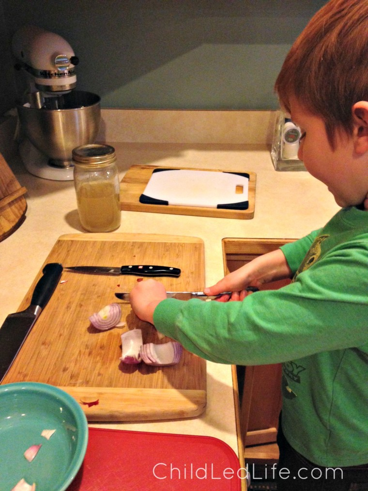 Don't miss THE tip that will help your kids cut onions! Find more and link up your favorite blog post on ChildLedLife.com