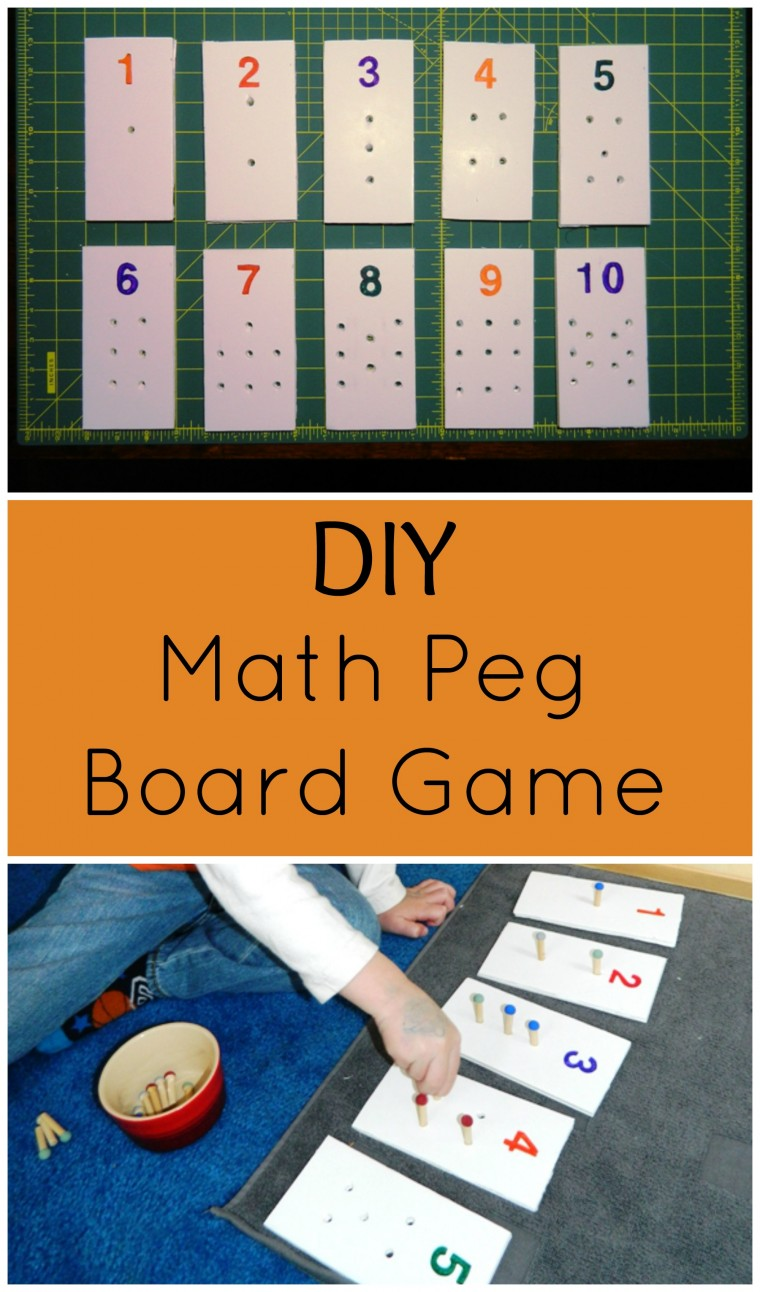 DIY early math peg board game that won't break the bank! Help you little ones with number recognition with this easy DIY project from ChildLedLife.com