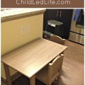 A child size table is a great way for kids to practice their Montessori kitchen still. Find more on Montessori tables and link up your favorite kids in the kitchen post on ChildLedLife.com