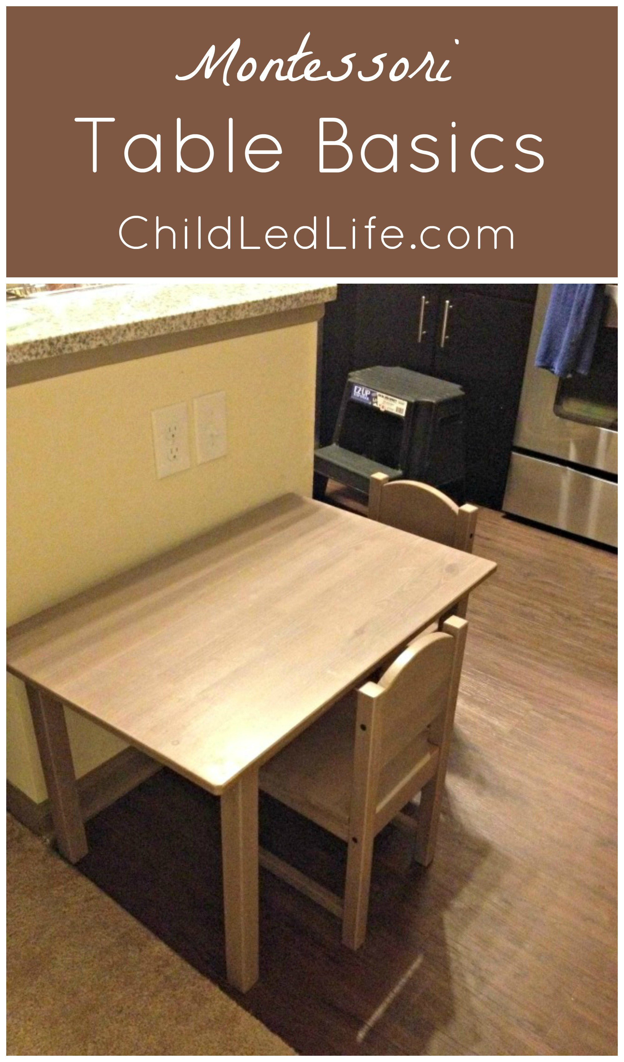 Montessori Table Basics and Party In The Kids Kitchen Link Party