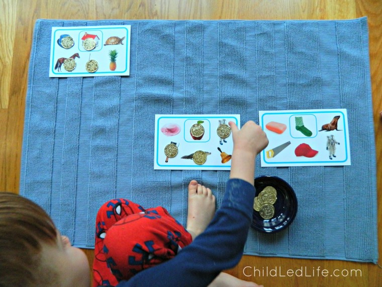 Find the sounds is a fun game to help kids with beginning sounds recognition! Find more on this Royal Road to Reading program from Age of Montessori on ChildLedLife.om