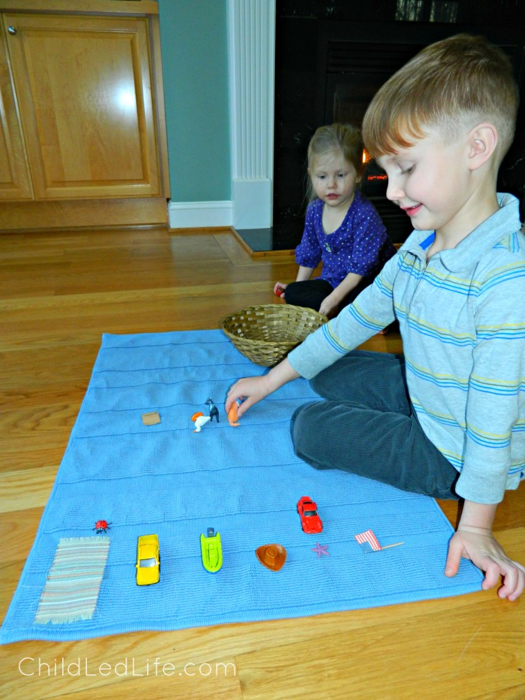 Rhyming objects is an important step in phonemic awareness. Learn more about Royal Road To Reading from Age of Montessori on ChildLedLife.com