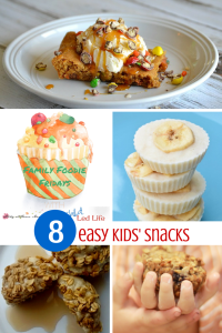 8 EASY KIDS' SNACKS! Don't miss all the great snack ideas at the Friday Family Foodie link up party on ChildLedLife.com