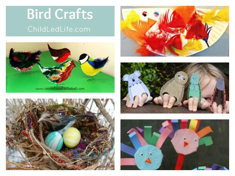 9 Crafts to help Welcome Spring Birds on ChildLedLife.com