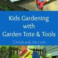 Isn't this adorable?!? Garden Tote and Tools from For Small Hands. Full Review on ChildLedLife.com