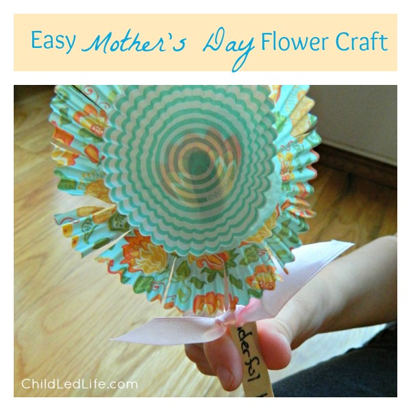 Easy Mother's Day Flower Craft