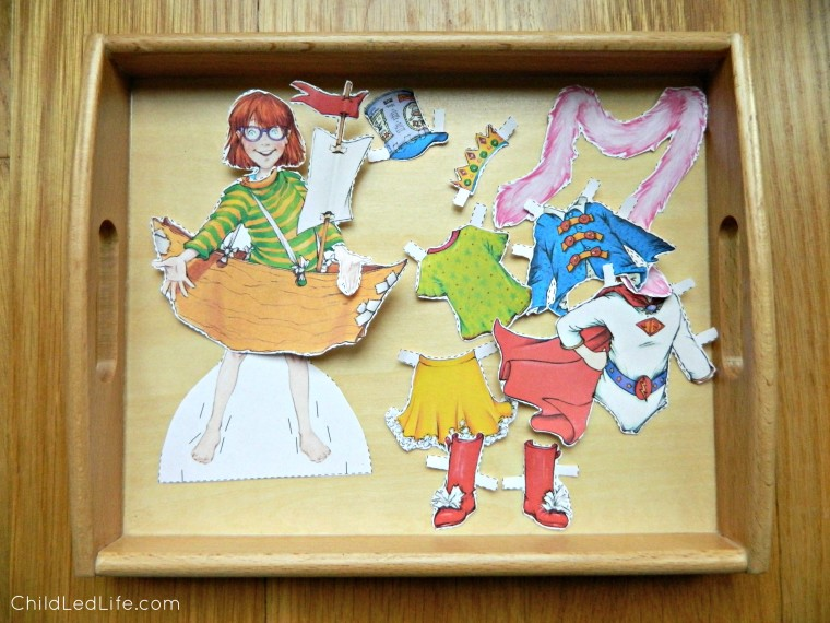 Playing with paper dolls to learn more about Junie B. Jones. Learn more about Barbara Park too on ChildLedLife.com