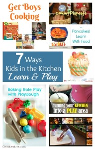 Pinning this! 7 Ways Kids in the Kitchen Learn & Play with Link Up on ChildLedLife.com