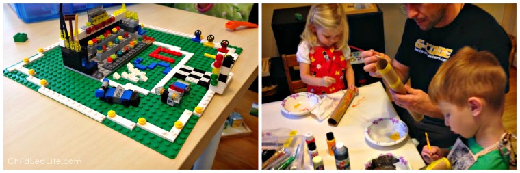 Build with Lego and Paint with Dad this Father's Day. Find more great Father's Day ideas on ChildLedLife.com