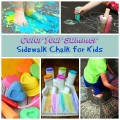 Welcome summer with Sidewalk Chalk for Kids on ChildLedLife.com