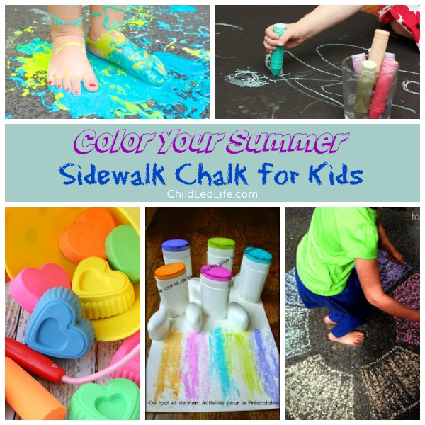 Color Your Summer: Sidewalk Chalk for Kids