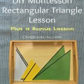 I love DIY projects! DIY rectangular triangles lesson on ChildLedLife.com