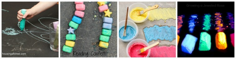 So excited to Welcome Summer! Here are some great sidewalk chalk with a twist on ChildLedLife.com