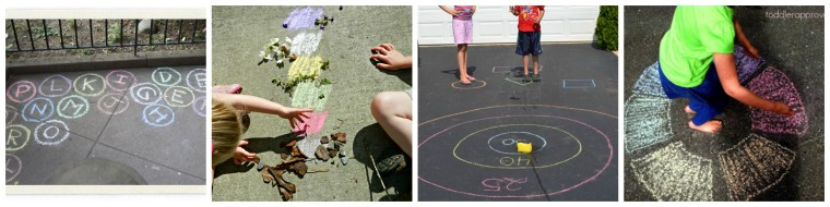 So excited to Welcome Summer! Here are some great sidewalk chalk games on ChildLedLife.com