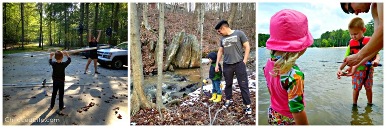 Workout Explore a Creek and Go Fishing with Dad this Father's Day. Find more great Father's Day ideas on ChildLedLife.com
