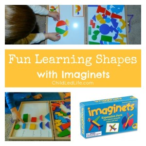 Fun Learning Shapes with Imaginets on Child Led Life 2