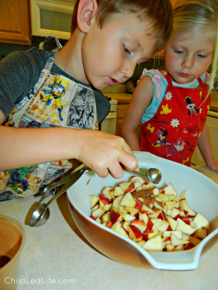 Fun and easy apple pie activity for kids  on ChildLedLife.com
