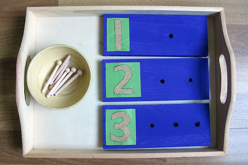Great examples of home made Montessori materials!