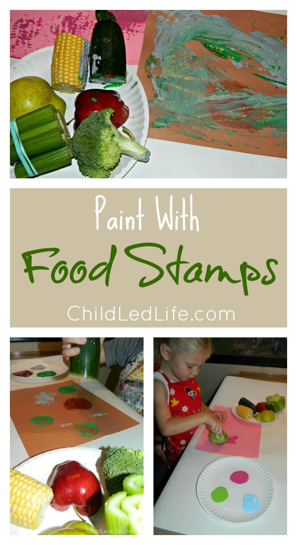 Love this open play idea. Such an easy idea to explore with food stamps.