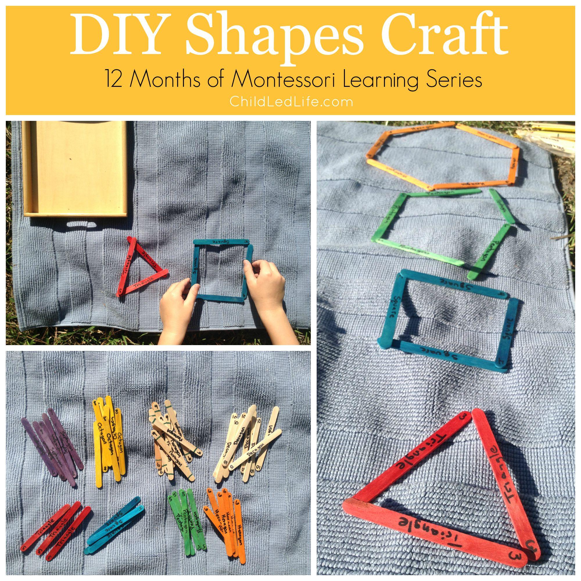 DIY Shapes Craft - Child Led Life