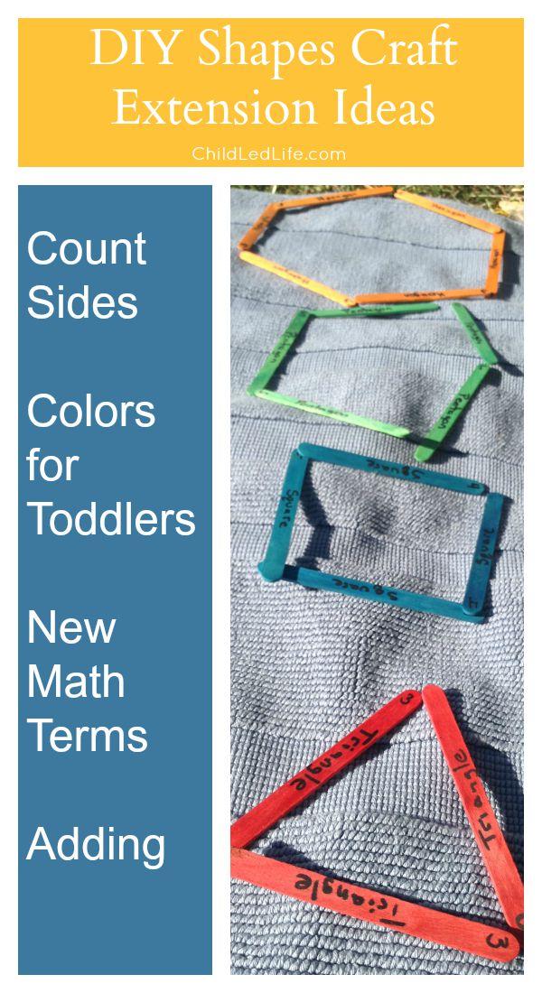 Easy DIY Shapes Craft on ChildLedLife.com