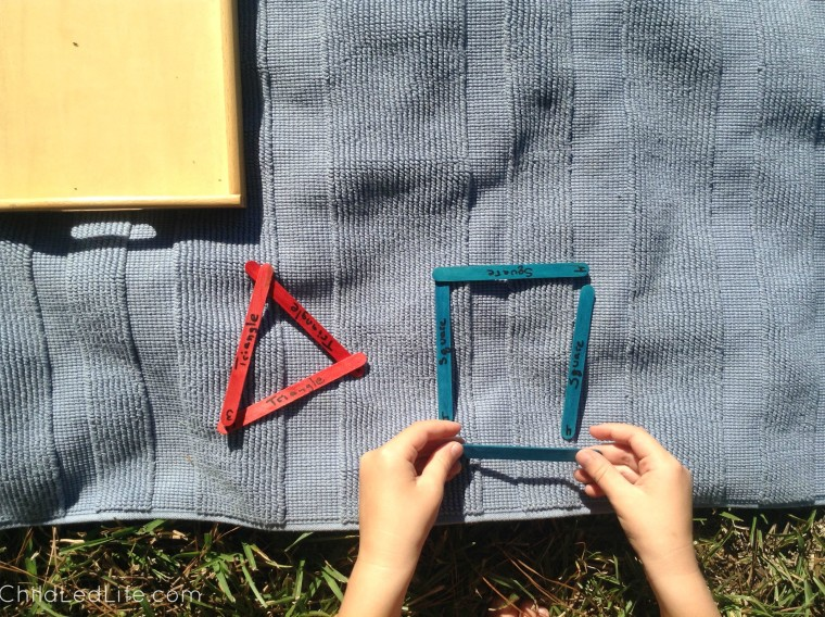 Easy to make shapes craft!