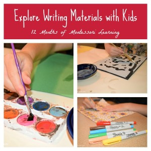Exploring Writing Materials with Kids