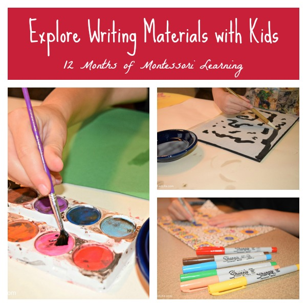 Explore Writing Materials with Kids